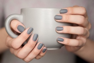 6. Matte nails in any shade but grey is so on trend I can't resist