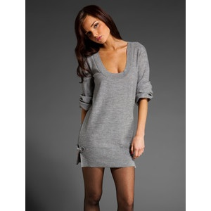 4. Grey (is the new black) sweater dress