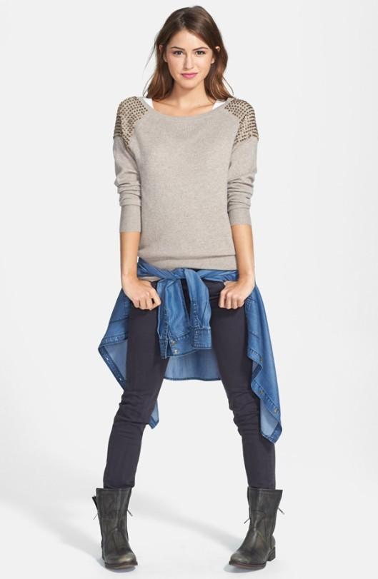 Halogen Embellished Cashmere Sweater Original: $148 Sale: $98.90